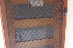 7mm diamond grille barrier front door