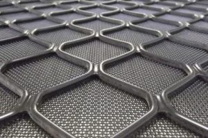 7mm diamond grille barrier mesh close up