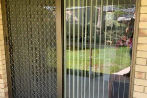 7mm diamond grille barrier sliding door