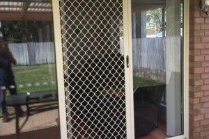 7mm diamond grille barrier sliding screen door