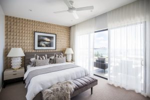 S Fold Curtains in modern bedroom apartment
