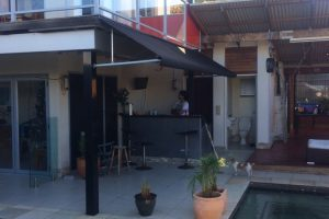 commercial cafe fixed frame awning