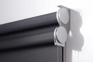 dual rollerblinds close-up
