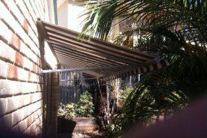 external awning fixed frame