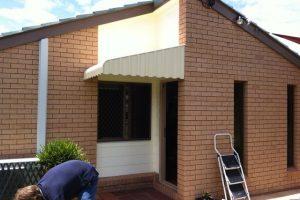 external awning vertical stripe style