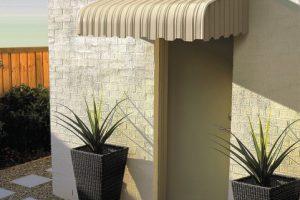 external caribbean stripe awning