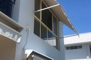 external cord and reel awning
