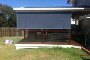 lowered veranda awning