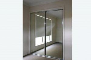 mirror wardrobe door in empty room