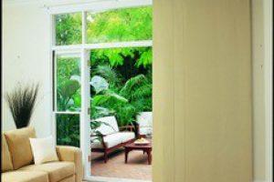 panel glide vertical drape in decorative living room