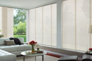 panel glides in spacious lounge area