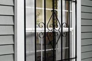 pattern steel bars on window