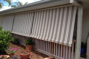 patterned automatic awnings