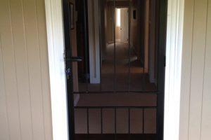 steel barred door in home