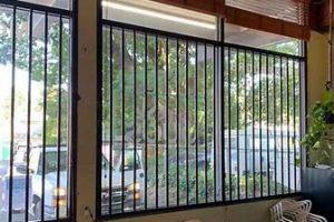 steel bars on window