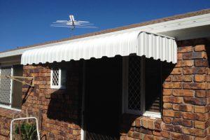 vertical stripe external caribbean awning