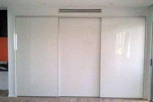vinyl sliding wardrobe door closed