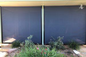 ziptrak awning near garden feature
