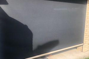 ziptrak awning partially lowered
