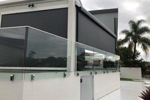 ziptrak awning showcase on modern home angle