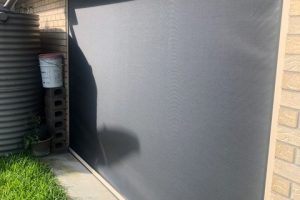 ziptrak external awning close up