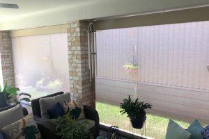 ziptrak external awning drawn up completely