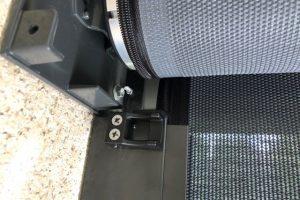 ziptrak external awning roller close up
