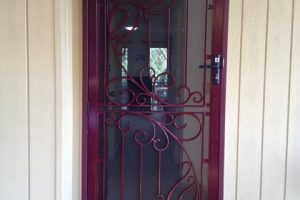 colored colonial door frame