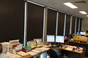 rollerblinds in office