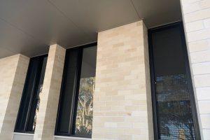 screenguard windows in brick foundation
