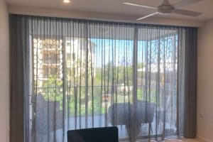 Wide View S Fold Curtains Over Window
